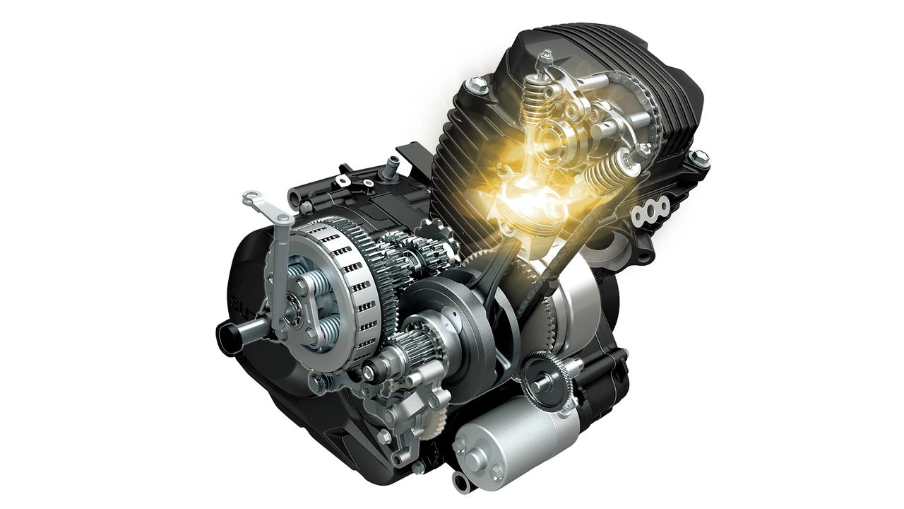 画像: 専用開発の空冷単気筒154cm3エンジンは、フリクション低減や燃焼効率向上を図ることで、低速からの力強い加速性能(最高出力10kW/8,000rpm、最大トルク14Nm/6,000rpm)と優れた燃費性能(58.8km/L)を実現。 平成28年国内新排出ガス規制に対応している。