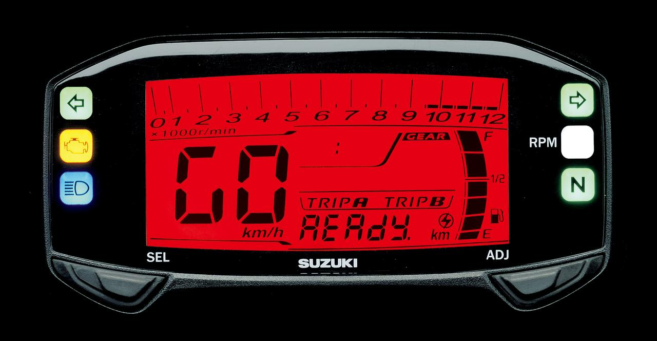 画像: 視認性の高いフルデジタル表示の液晶多機能メーター。キーをオンにするとオープニングメッセージで 「READY GO」の文字が表示される。