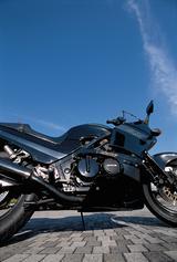 画像: スタイリングは基本的に兄弟モデルのGPZ600Rと共通。高速走行でも快適な大柄なフルカウルに余裕のあるポジション、大容量の燃料タンクなど、スポーツツアラーとして求められる機能と、スポーティさをスマートにまとめたものだ。