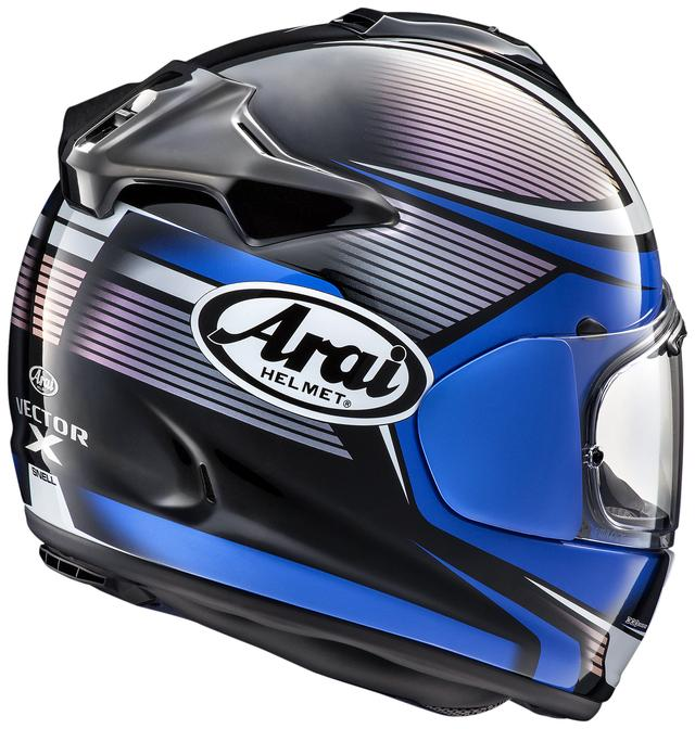 画像: Arai VECTOR-X TOUGH(ブルー)