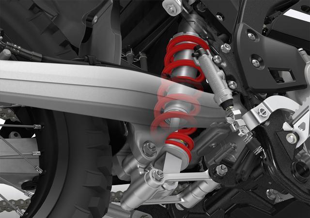 画像: しなやかで快適な乗り心地を実現する新設計のリアサスペンション。リンクレシオの変更によりアクスルストロークを25mm拡大している。画像はCGイメージ。