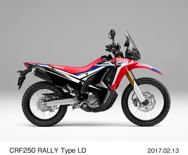 画像: CRF250 RALLY Type LD(シート高830mm)