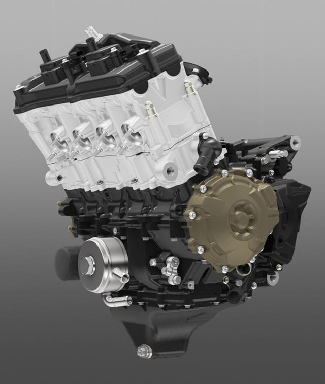 画像: 各種最適化と吸排気系のセッティング、マフラー構造の変更によって出力向上を実現したパワーユニット。