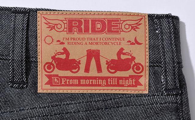 画像: 腰部分に取り付けられる紙パッチは「2台のナナハンが両方からジーンズを引っ張っても大丈夫」といったことをイメージ。(あくまでイメージです。試さないでください。)