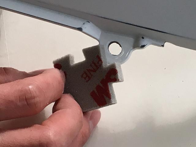 画像: パズルのピース形状なので細かい箇所の研磨にも対応。現在、グロム(レースベース車)の塗装前、下地作りに活用中。使いやすいです。