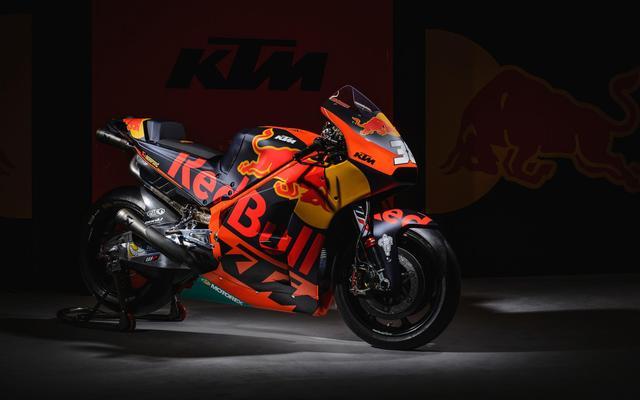 画像: これがKTM製MotoGPマシンRC16 レッドブルという強力なメインスポンサーがついています