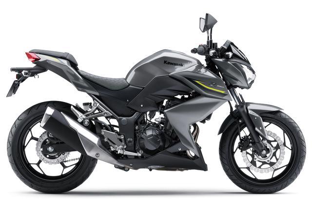 画像2: KAWASAKI Z250 ABS(メタリックグラファイトグレー) ■税込価格:55万3500円 実際のモデルにはZパターンのシートは装着されておりません。