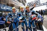 画像: 左からカネパ、チェカ、ディ・メリオ ディ・メリオは08年GP125チャンピオン、そうそうたるメンバーですね