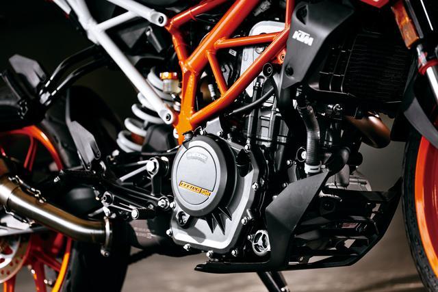画像: エンジンの基本構成は先代を継承。ボア×ストロークや最高出力&トルク値は変わらないが、より低回転域で常用できるスムーズさを備えた。トレリスフレームはシートレール部がボルトオンとなった新設計。