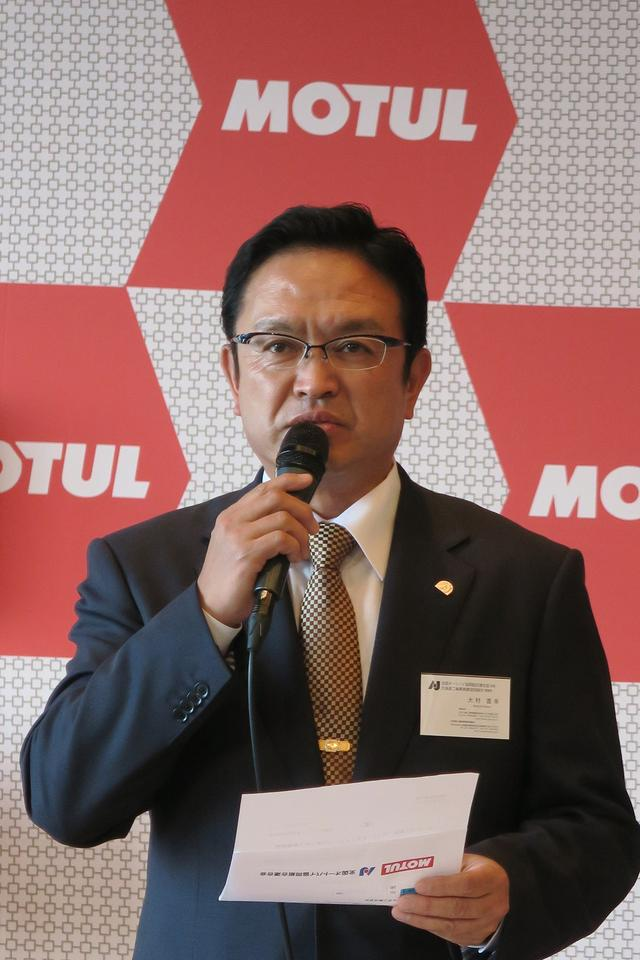 画像: AJ 大村直之会長の調印の挨拶