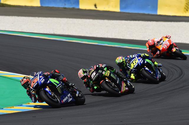 画像: レース中盤以降はこの順 マルケスはこの差を詰められないまま転倒してしまいます