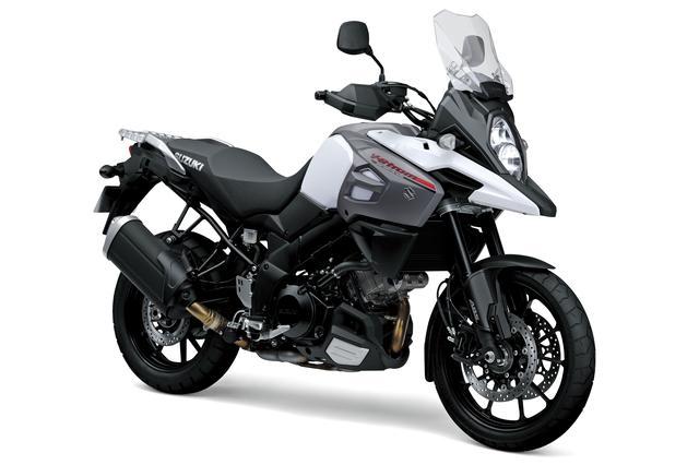 画像: V-Strom 1000 ABS 1036cc 99ps/8000rpm 1,404,000円 6月26日発売 カラー:パールグレッシャーホワイト
