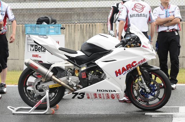 画像: 上原のCBR250RR ポールポジションを獲得し、筑波大会の優勝に続き好スタート!