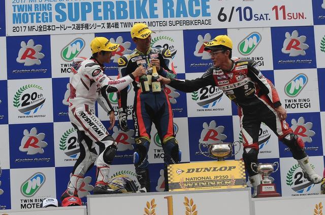 画像: 若手育成のレースではありますが、優勝した薄井、3位の田中は40代 簡単にはやられないぜ