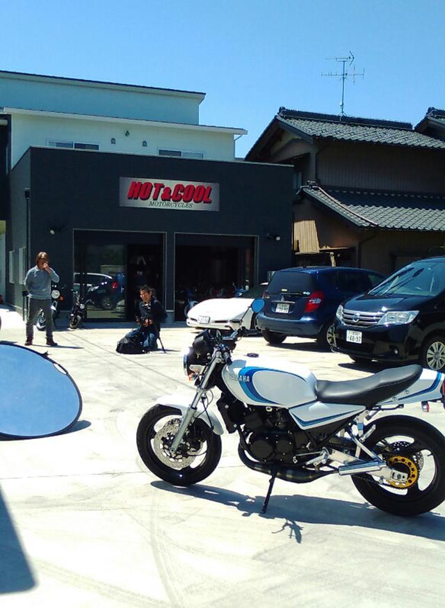画像: 宿泊した美濃太田から一般道で一宮のホット&クールさんの取材。超絶RZカスタムは、コンプリートモデルとして販売しています。 HOT&COOL= http://www.hotandcoolcustoms.com/