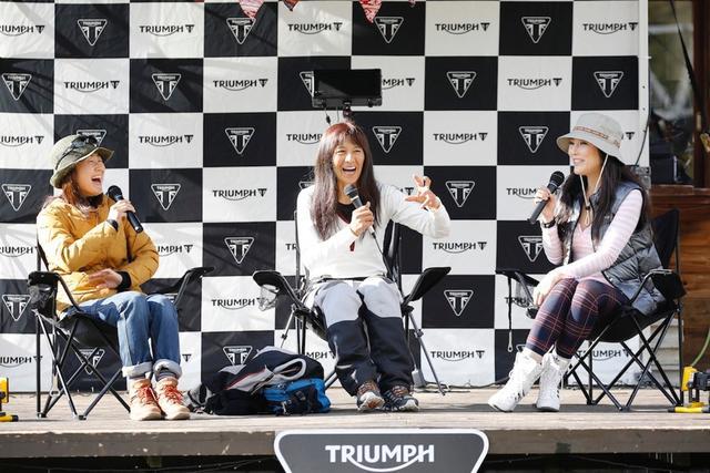 画像: 左からこばゆりさん、礼子さん、そして福山です。