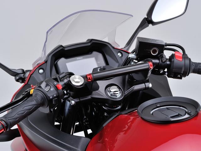 画像: 車種別マルチバーホルダー GSX250R('17) キャップボルトカラーM8 レッド付属 ■4800円 2017年7月下旬発売