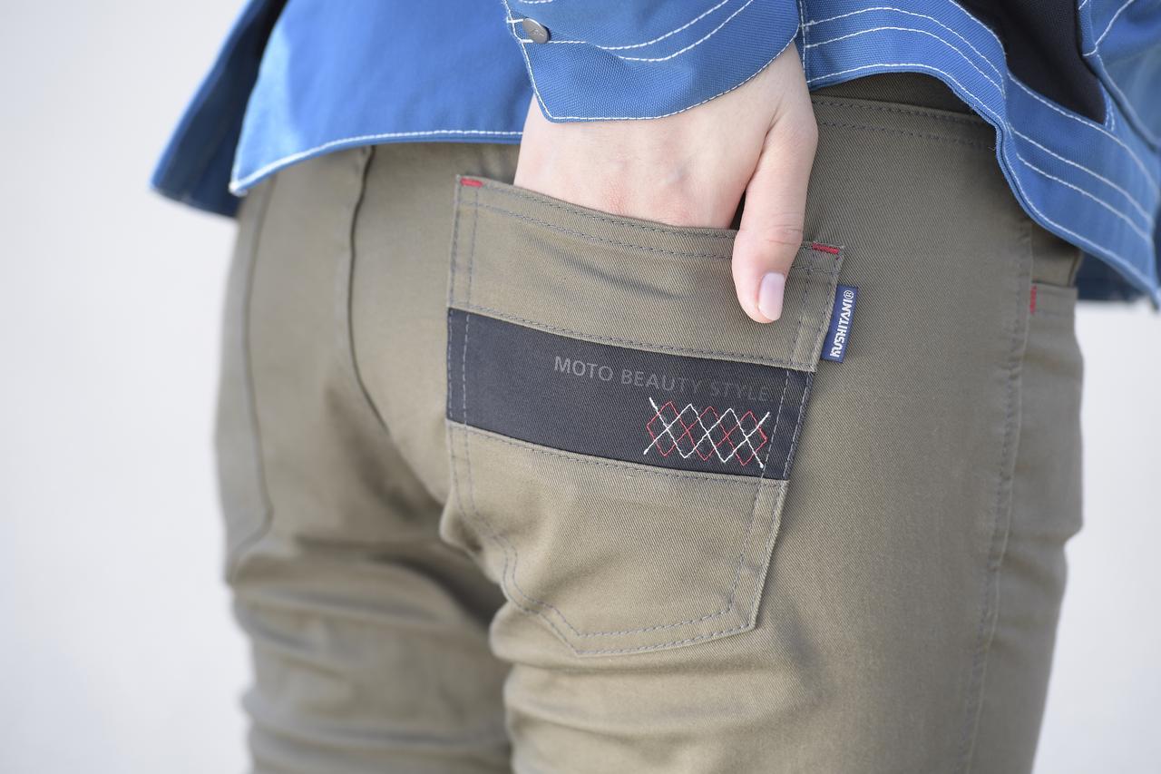 画像: 運動性に優れ、履き心地も良好な「ストレッチフィットパンツ」。ポケットのワンポイントも利いてます!