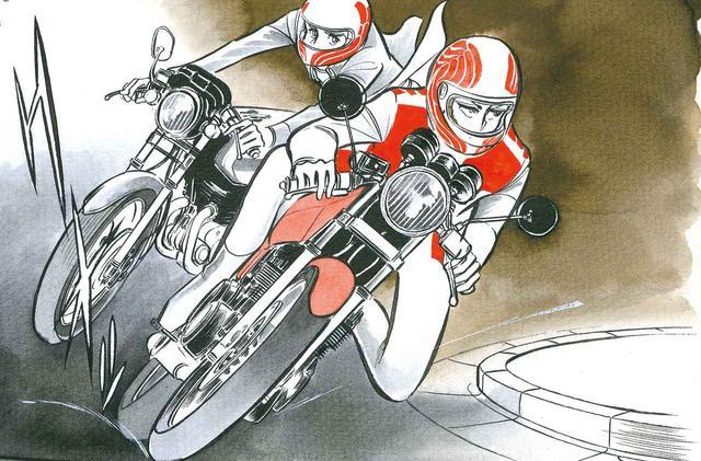 画像: ライバルであり、もうひとりの主人公、東条もまたZ400FXに乗る。緋沙子が東条にCBX400F を借りて転倒して壊してしまったあとにも乗って登場する。いかにこのオートバイが当時人気だったかがうかがえる。 ©️新谷かおる