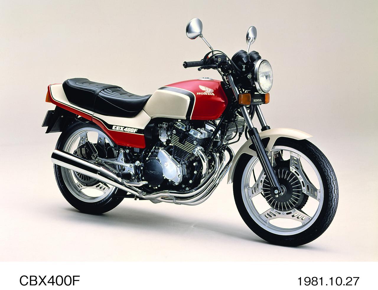 画像: ●エンジン型式:空冷4 ストDOHC4 バルブ並列4 気筒●総排気量:399cc ●最高出力:48PS/11000rpm ●最大トルク:3.4kg-m/9000rpm ●乾燥重量:173kg ●燃料タンク容量:17L ●前・後ブレーキ:ディスク・ディスク●前・後タイヤサイズ:3.60-18・4.10-18 ●発売年月:1981 年11 月●発売当時の価格:47 万円/48 万5000 円 (ツートーン)