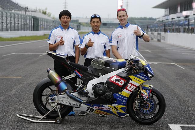 画像: 高橋裕紀、清成龍一に、ブリティッシュスーパーバイクのダン・リンフットを加えたモリワキ。