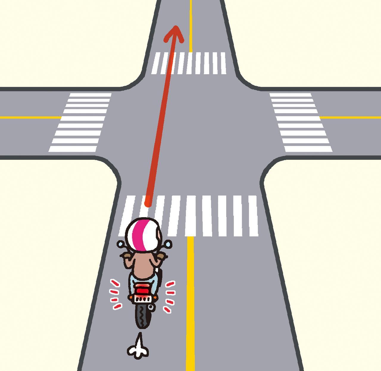 画像: ④交差点ではブレーキランプを点灯させよう!