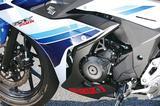 画像: GSR250用をベースに開発された水冷並列ツインエンジンは、低中速トルクを重点的に向上。発進時の加速感、中回転域での力強さを味わえる。