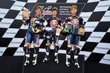 画像: レース1で表彰台を独占した、左から眞崎、小椋、山中の日本代表たち!