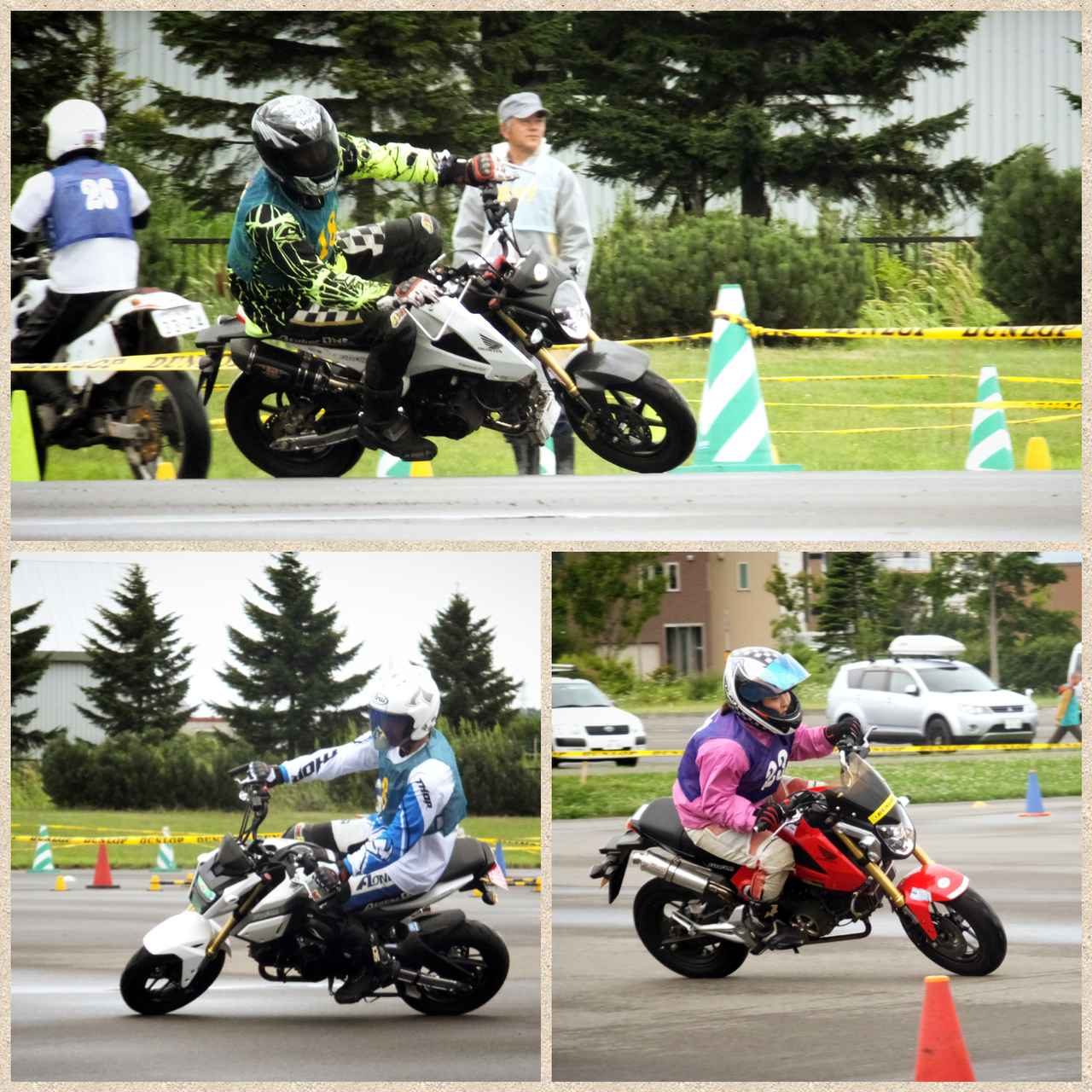 画像: 上・宮田選手(愛知県)、左下・高橋選手(愛知県)、右下・田中選手(北海道) もう1名北海道の女性選手がいたのですが写真が撮れず……