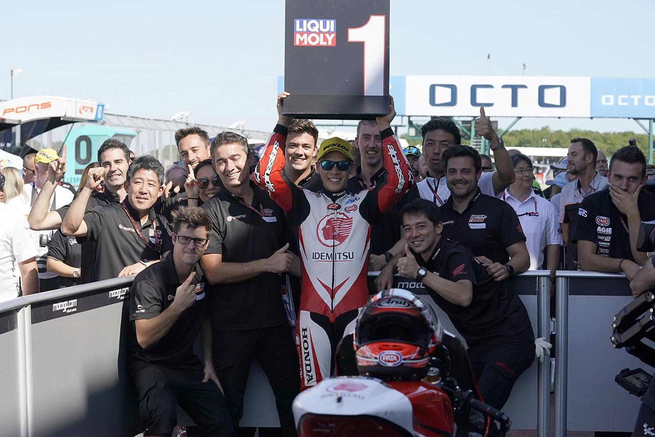 画像4: 中上がイギリスGPで劇的な優勝 ※IDEMITSU Honda Team Asia プレスリリース