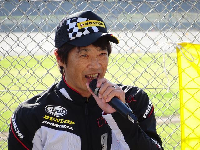 画像: おなじみ北川圭一さん 元全日本ロードレースチャンピオン、世界耐久チャンピオン!
