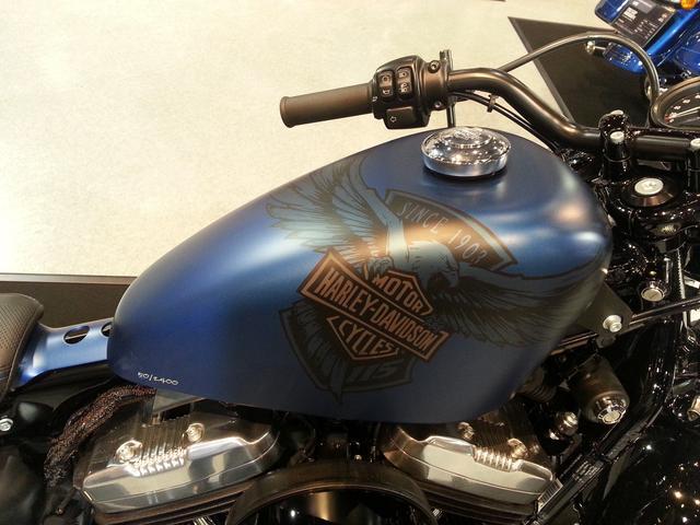 画像: ハーレー115周年イーグルのデザインが入ったオシャレなタンク! シリアルナンバーも手書き風の文字です。 (2400台)