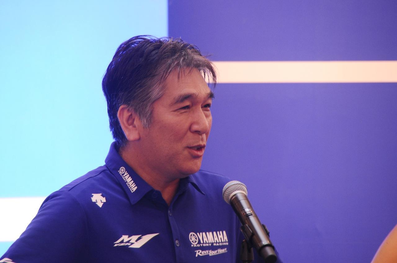 画像: ヤマハモータースポーツ部部長、辻幸一さん。ロッシも、この人には逆らえません(笑)