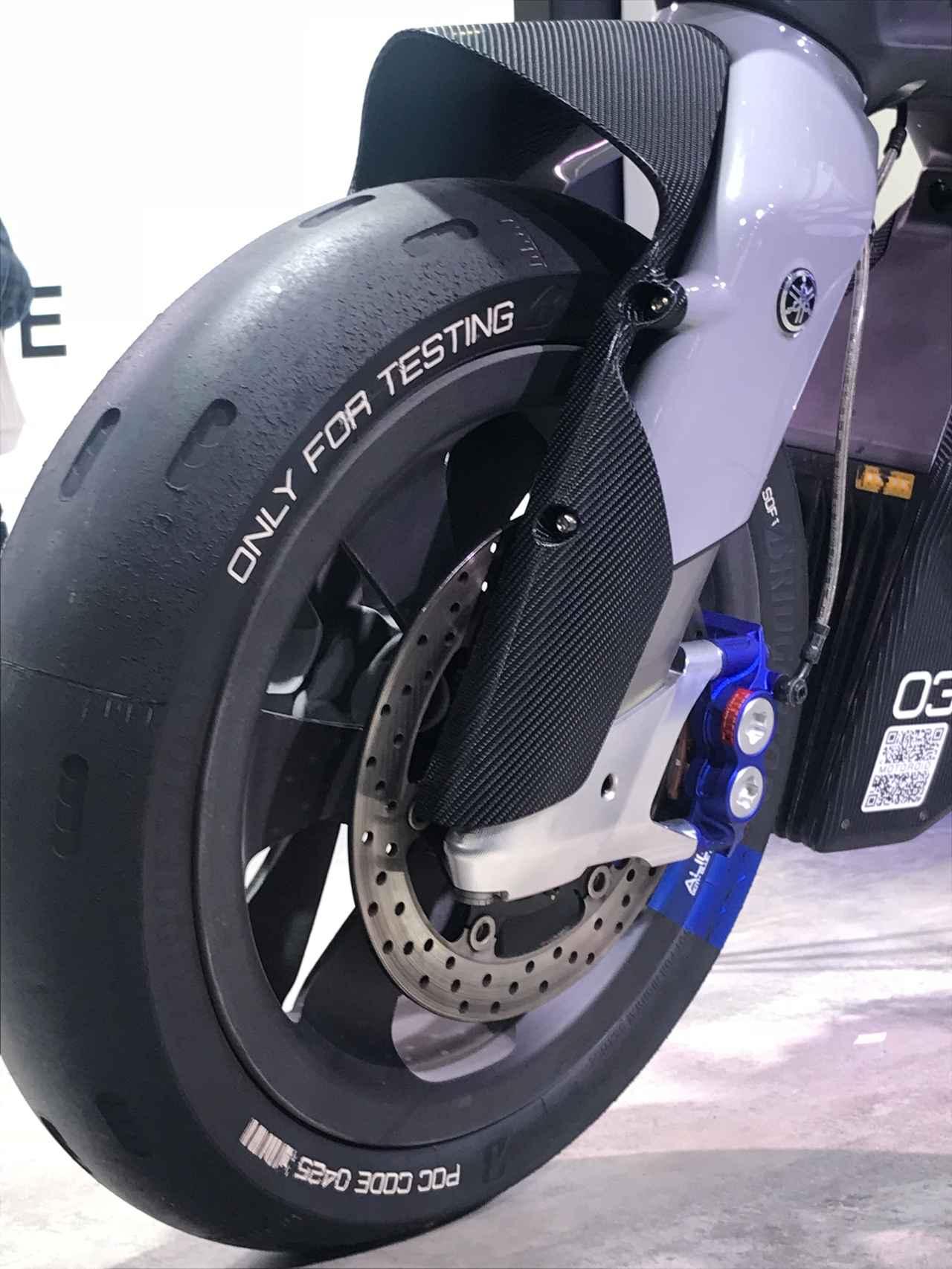 画像: タイヤは専用のテストモデル。端までキレイに溶けてる!