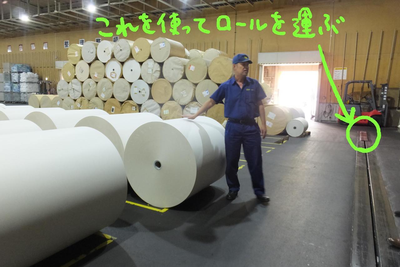 画像: ロールひとつ約400kg、長さは約1kmだそうです。