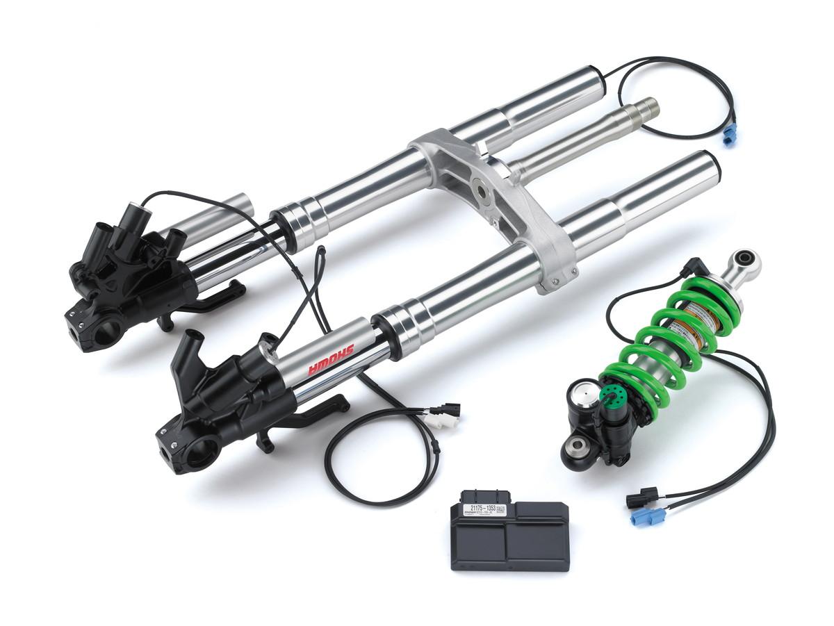 画像1: 最先端テクノロジーの電子制御サスペンション その名も「KECS(Kawasaki Electronic Control Suspension)」