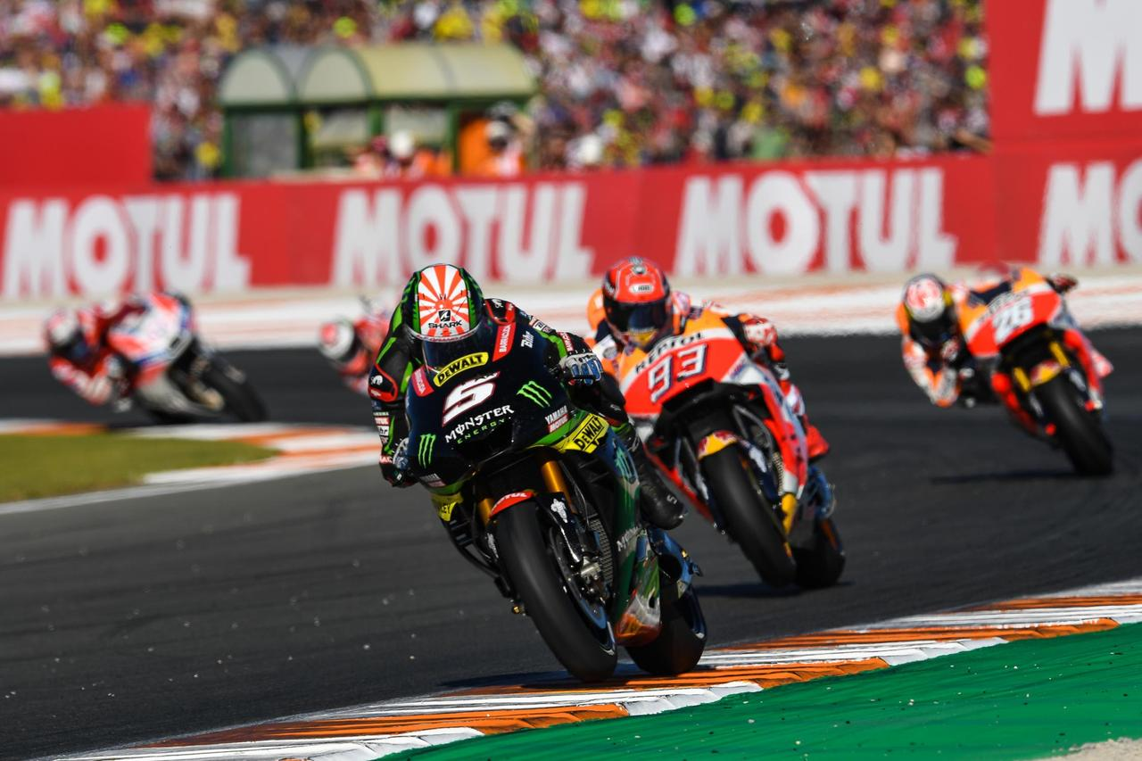 画像: レースの大半はこんなオーダーでした 逃げるザルコ、2位でも余裕で悲願達成のマルケス