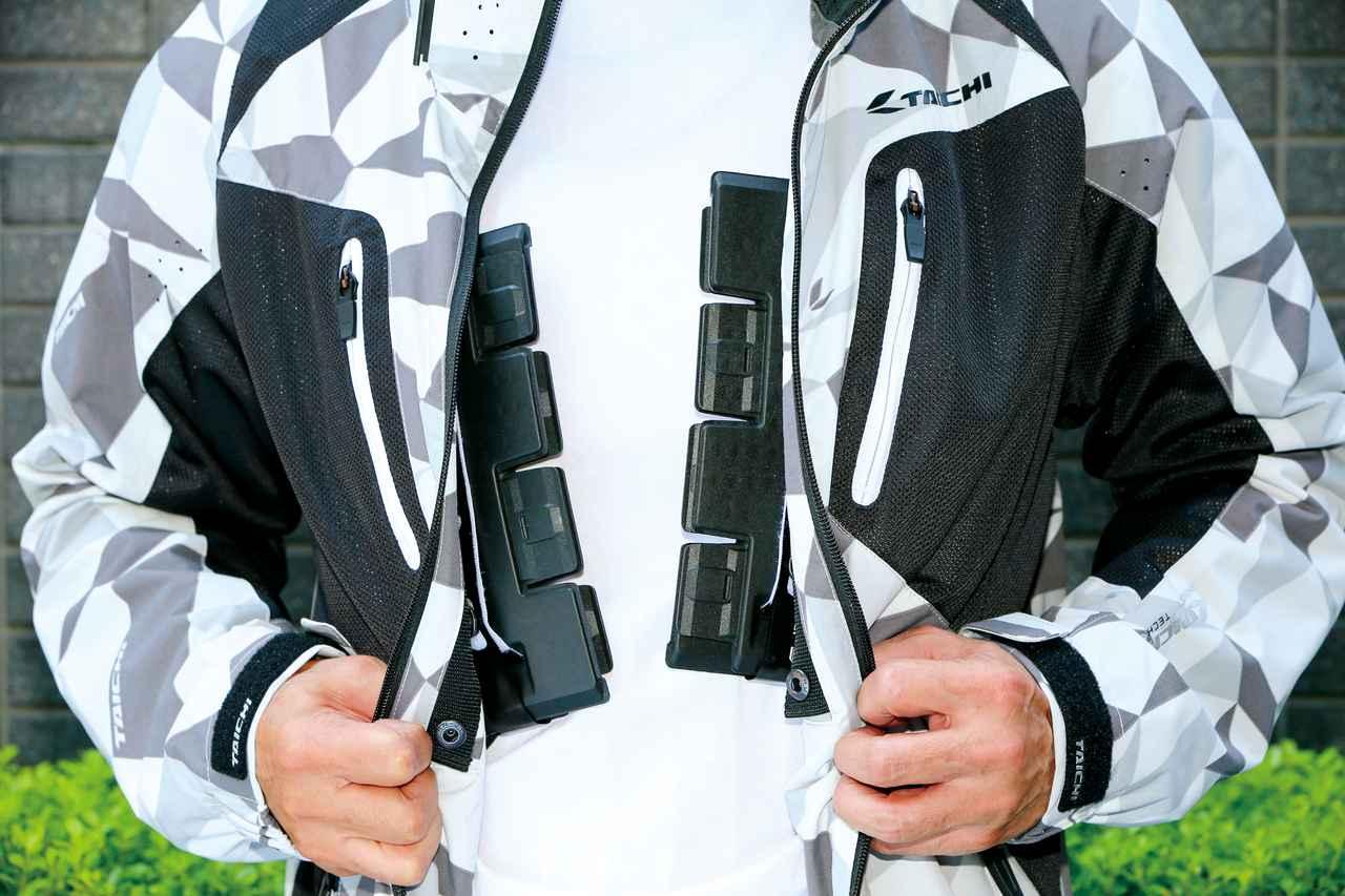 画像: 衝撃吸収性と軽さ、薄さ、通気性を兼ね備えた胸部プロテクター!