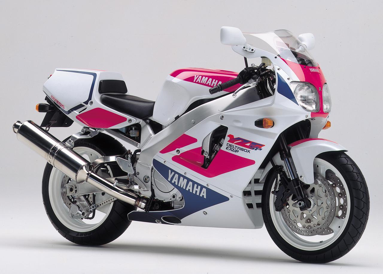 画像: 1993年モデルとして新登場したYZF750SP。国内では限定350台、定価125万円で発売された。カラーリングは国内仕様、輸出仕様共に写真の1パターンしか存在しない。