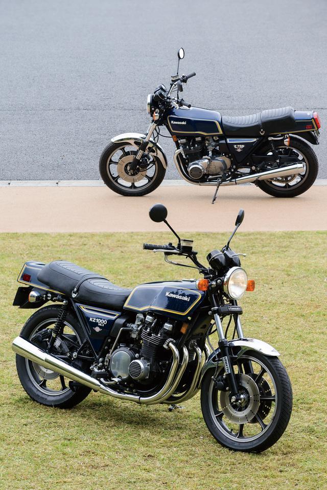 画像: 一方角Zは丸Zより車種が少ない。約半分。Z1000Mk‐Ⅱ、Z750FX、Z1‐Rも入れてもこれだけ。