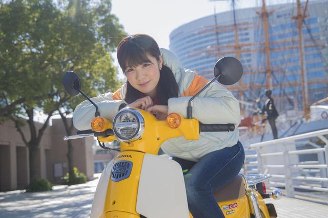 画像3: 梅ちゃん、 初めてスーパーカブに乗る!