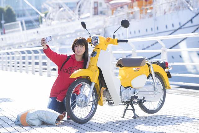 画像2: 梅ちゃん、 初めてスーパーカブに乗る!
