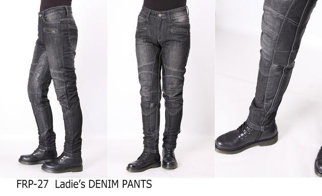 画像2: カジュアルに着こなせる本革ヒートガード付デニムパンツに「ブラックデニム」の新色が追加される