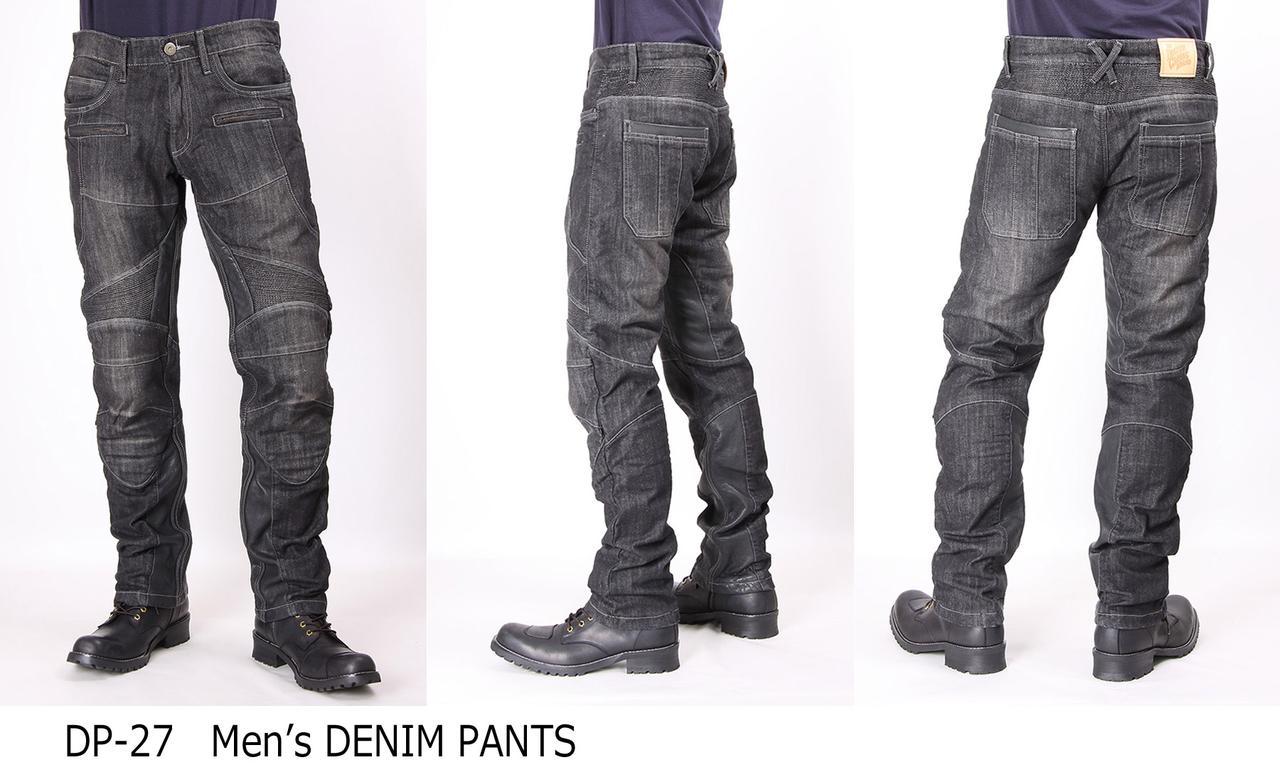 画像1: カジュアルに着こなせる本革ヒートガード付デニムパンツに「ブラックデニム」の新色が追加される