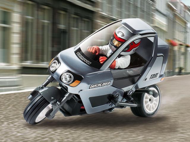 画像1: ちゃんとバンクしてコーナリングする3輪 電動RCカー