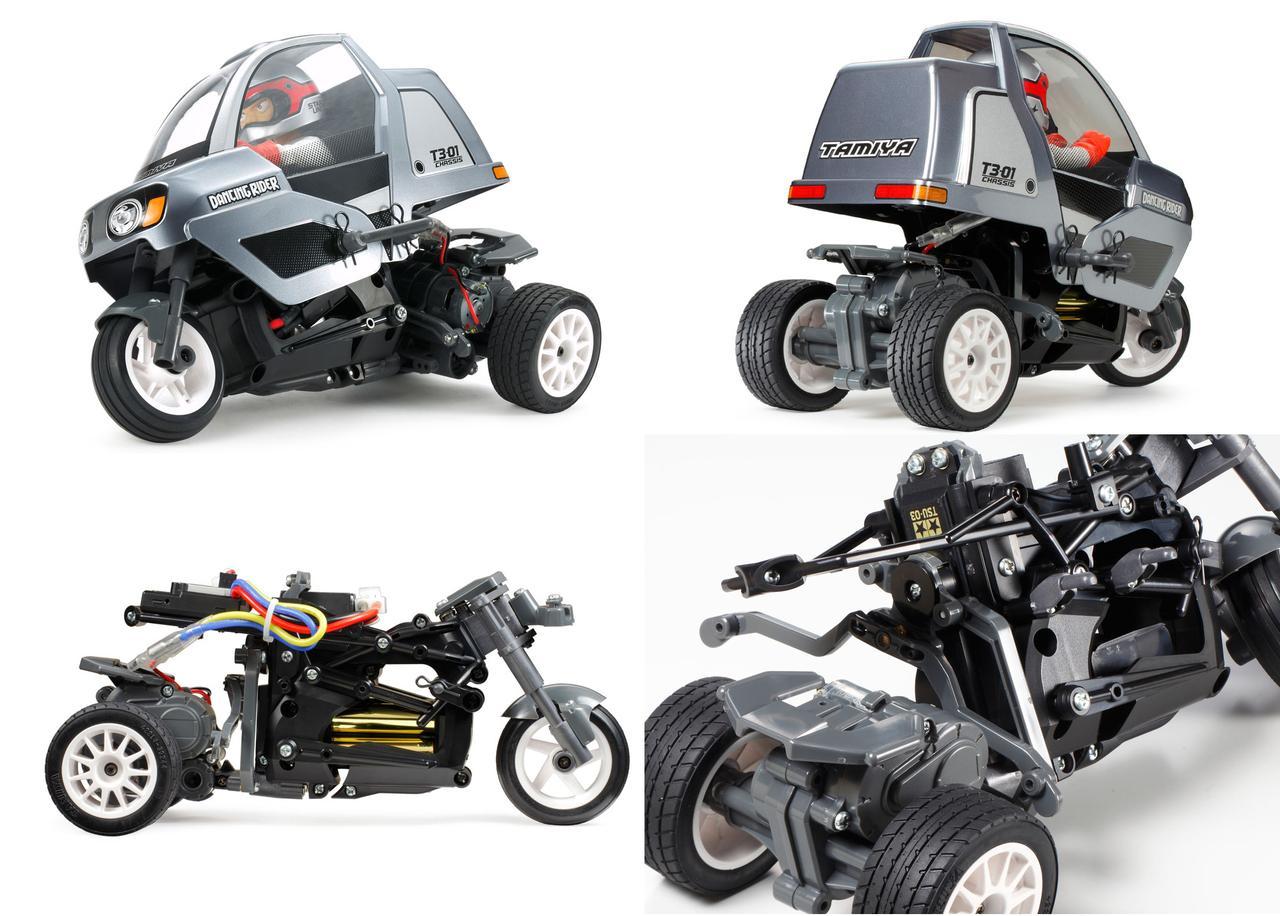画像2: ちゃんとバンクしてコーナリングする3輪 電動RCカー