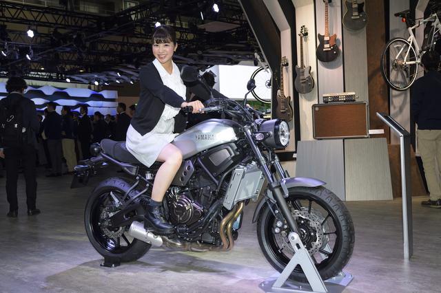 画像: 東京モーターショーでは、まさかのスカートでまたがってしまうほど気になったXSR700。