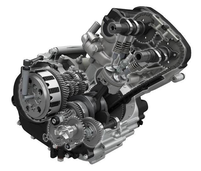 画像: 排気量124㏄の水冷単気筒エンジンは、兄貴分たちのノウハウを活かして開発されたDOHC4バルブヘッドを備え、燃焼室の最適化や、吸気効率の向上、燃料噴射の最適化で高性能と省燃費を同時に追求。最高出力はクラス最強の15PS。
