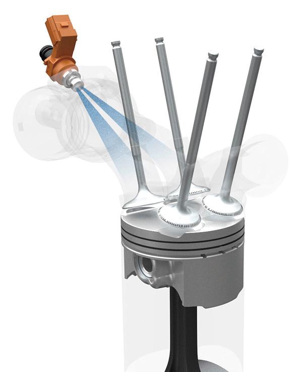 画像: 6つのセンサーを搭載したFIシステムを搭載し、4穴インジェクターを2つの吸気バルブに向け噴射して吸気効率を向上。さまざまな状況に合わせた最適な制御でパワーと燃費を両立。