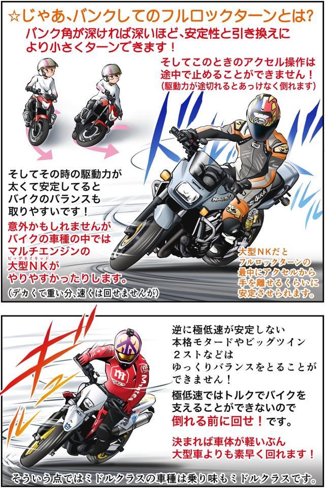 画像2: Motoジム! おまけのコーナー (車種によるフルロックターンのあれこれ)  作・ばどみゅーみん